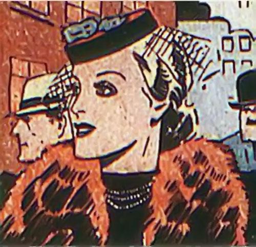 Tigress (Zatara character) (DC Comics Golden Age) with a fur coat