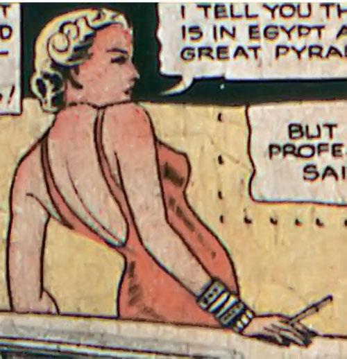 Tigress (Zatara character) (DC Comics Golden Age) in a bare back red dress