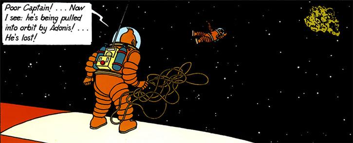 Tintin in space