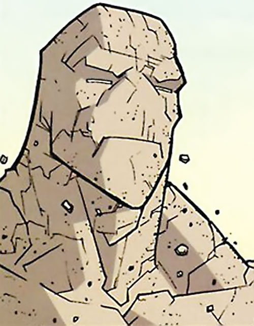 Titan (Invincible Comics) rock face closeup