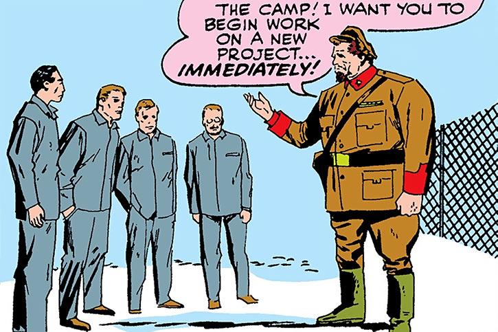 Titanium Man (Boris Bullski) forcing prisoners to build his armor
