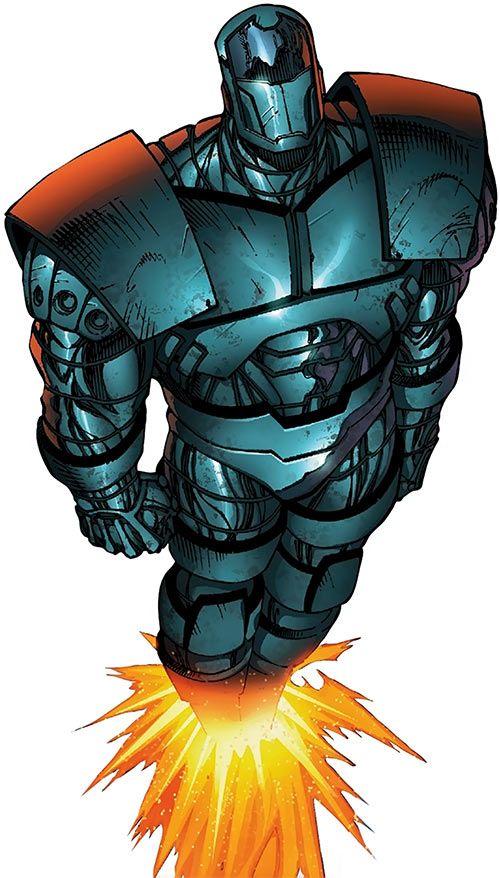 Titanium Man (Iron Man enemy) (Modern Marvel Comics) flying up