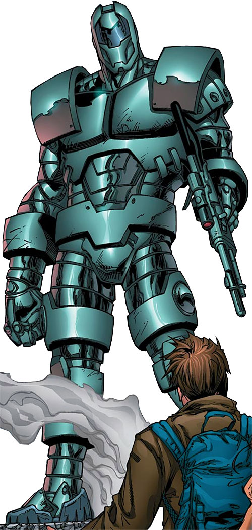Titanium Man (Iron Man enemy) (Modern Marvel Comics) with energy rifle