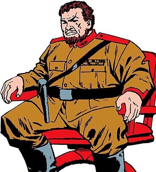 Titanium Man (Boris Bullski) in his seat