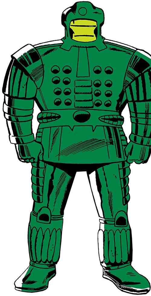 Early Titanium Man power armor
