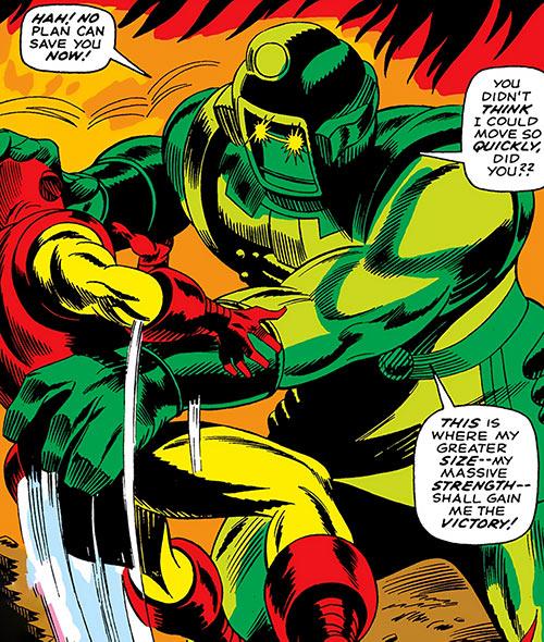 Titanium Man catches Iron Man