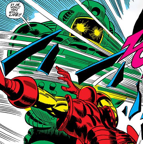 Titanium Man misses Iron Man