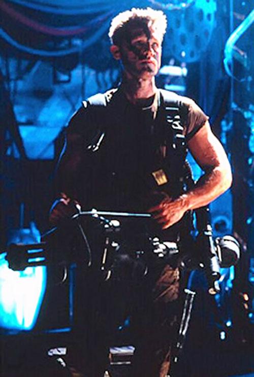 Todd 3465 (Kurt Russell in Soldier) with a minigun