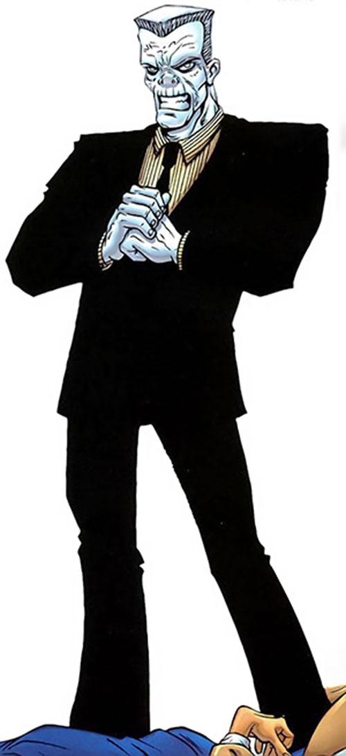 Tombstone (Spider-Man enemy) with chalk-white skin