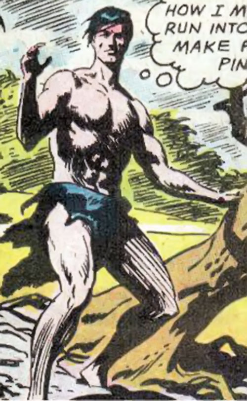 Brother-with-no-wings (War that Time Forgot) (DC Comics) in a loincloth