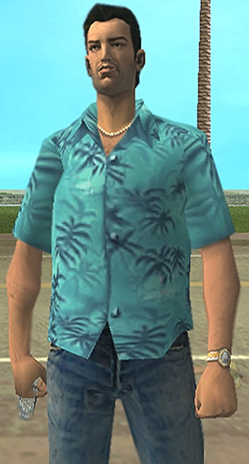 Tommy Vercetti (GTA Vice City) with brass knuckles