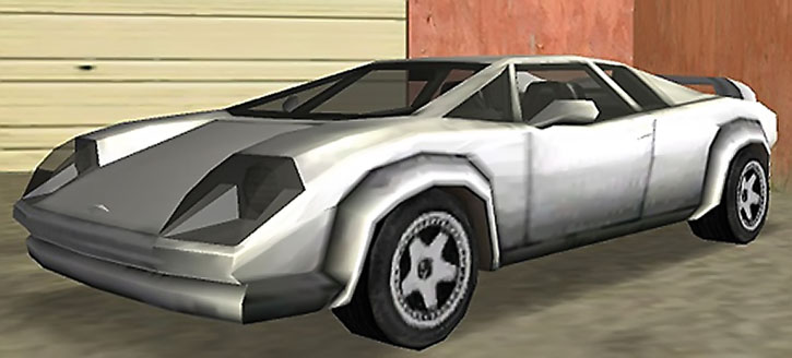 An Infernus sports car in GTA Vice City