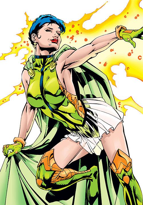 Tomorrow Woman using her powers