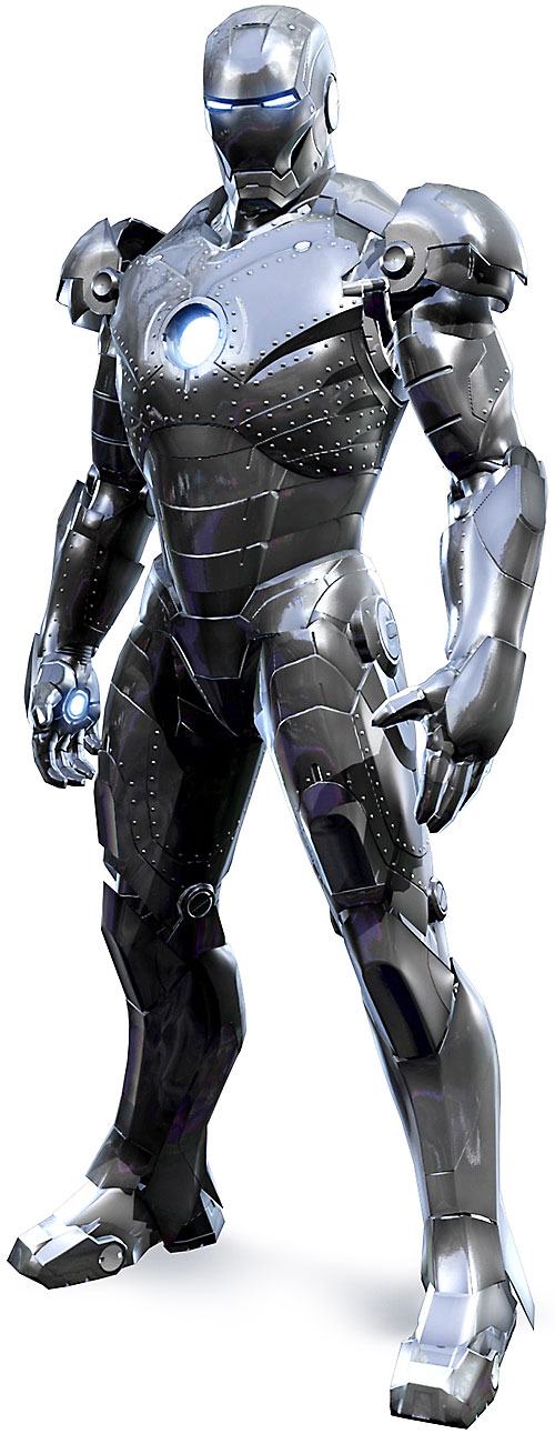 Iron Man (Robert Downey Jr. in the first Marvel movie) unpainted prototype armor