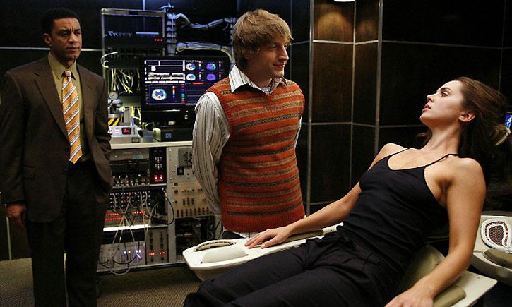 Topher Brink (Fran Kranz), Echo (Eliza Dushku) and Harry (Boyd Langton)