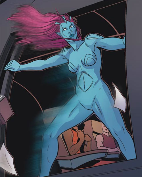 Transonic of Generation Hope (X-Men character) (Marvel Comics) airplane door