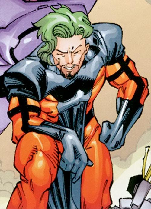 Trevor Fitzroy the Chronomancer (X-Men enemy) (Marvel Comics) in an orange and black costume