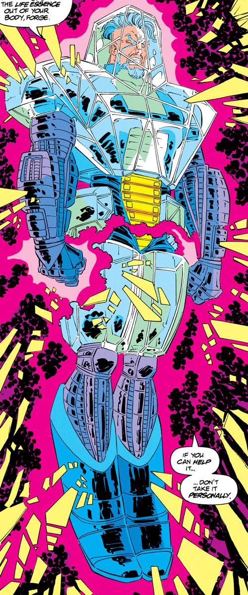 Trevor Fitzroy the Chronomancer (X-Men enemy) (Marvel Comics) in crystal armor
