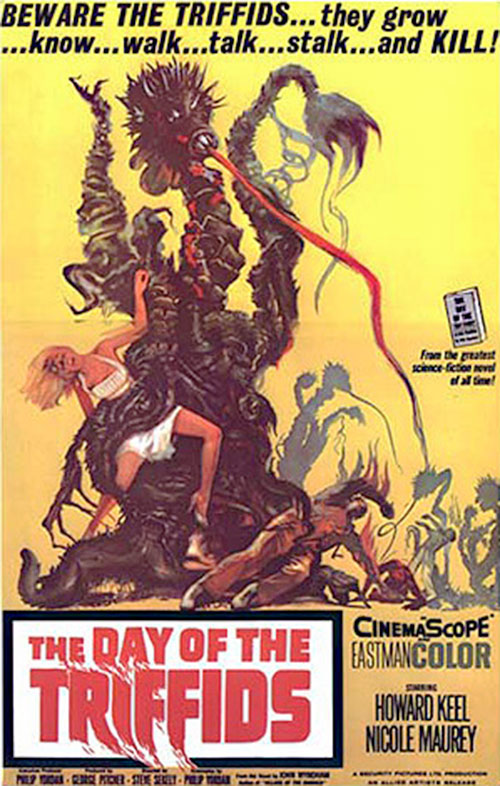 Day of the triffids movie with Keel and Maurey (poster)