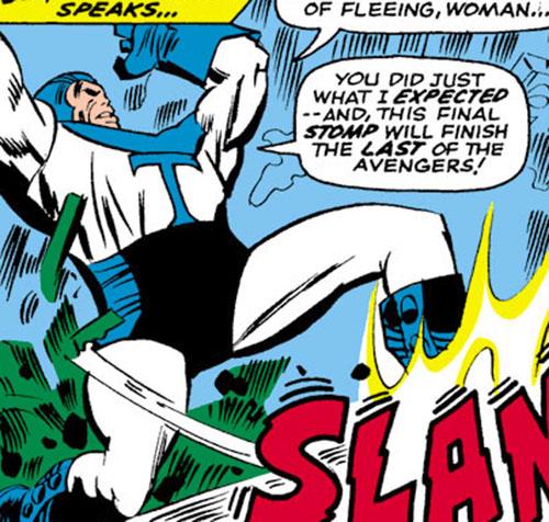 Thunderboot of the Triumvirate of Terror (Avengers enemies) (Marvel Comics)