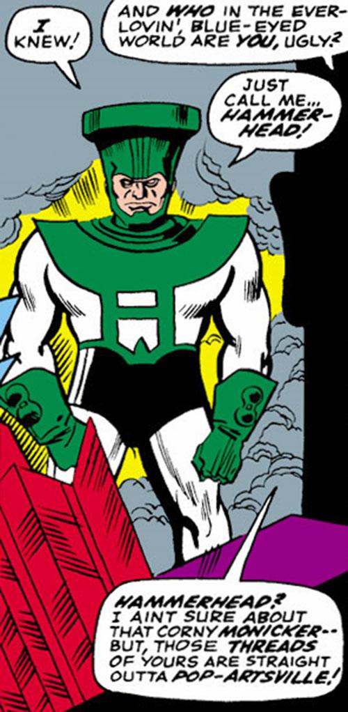 Hammerhead of the Triumvirate of Terror (Avengers enemies) (Marvel Comics)