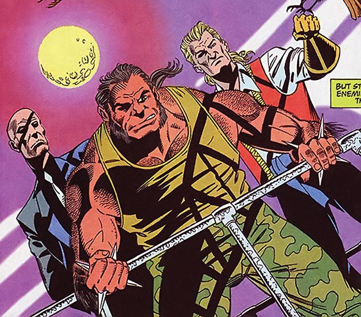 Trogg, Zombie and Bird - the lieutenants of Bane