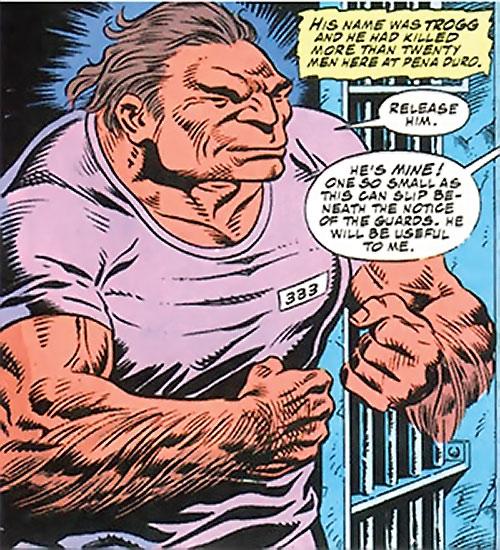 Trogg (Bane / Batman character) (DC Comics) in prison