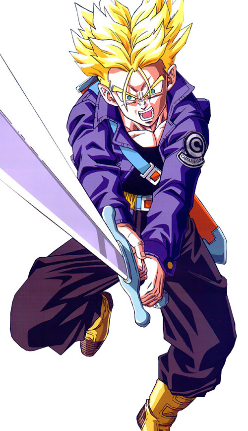 trunks dragon ball character androids future version
