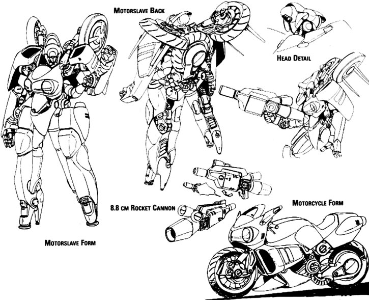Bubblegum - Typhoon motorslave - Technical drawing