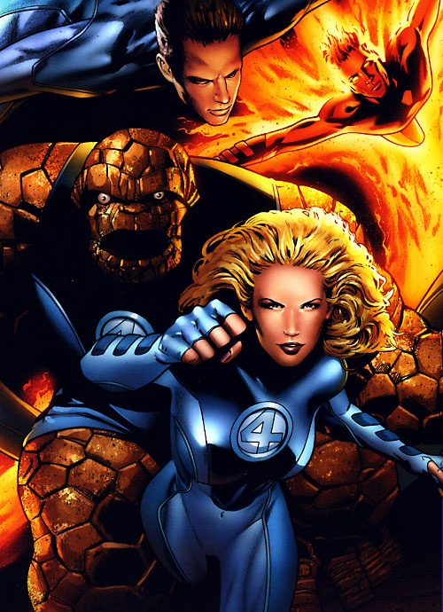 Ultimate Fantastic Four (Marvel Comics) charging