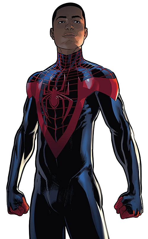 Spider-Man (Miles Morales) (Ultimate Marvel Comics) black costume no mask