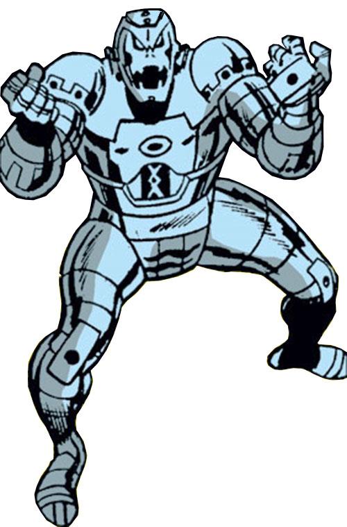 Ultron-5 (Avengers enemy) (Marvel Comics) high angle shot
