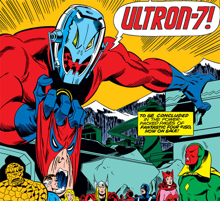 Omega is revealed to be Ultron as the Avengers and Fantastic Four watch