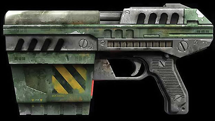 Unreal Tournament weapons - enforcer pistol