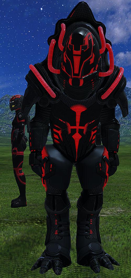 Urdnot Wrex (Mass Effect) Rage armor with full helmet