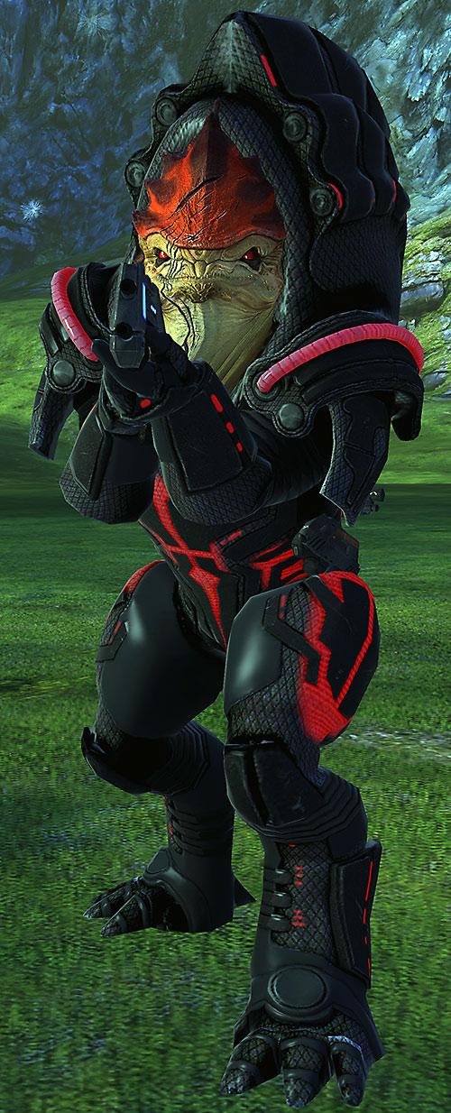 Urdnot Wrex (Mass Effect) high resolution model in Rage armor