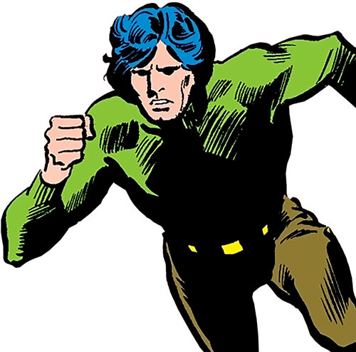 Uri Geller (Daredevil ally) (Marvel Comics) rushing in