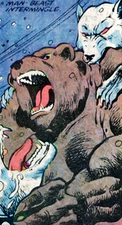 Ursa Major (Marvel Comics) (Soviet Super-Soldiers) vs. Dire Wraith dogs