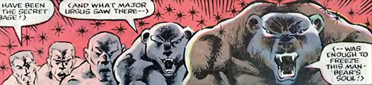 Ursa Major (Mikhail Ursus) turning into his bear form