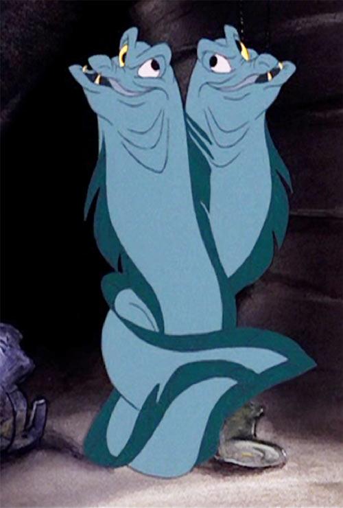 Ursula the sea witch (Disney's little mermaid) - Jetsam and Flotsam the moray eels