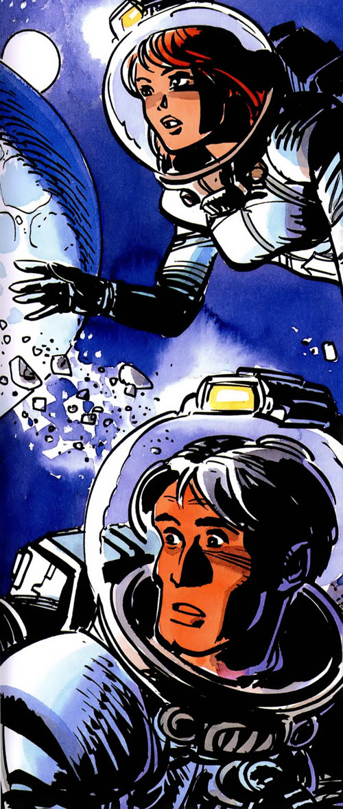 Valerian and Laureline (plot/story article) in space suits