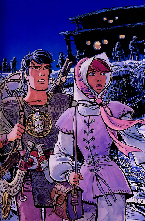 Valerian and Laureline (plot/story article) in low-tech costumes