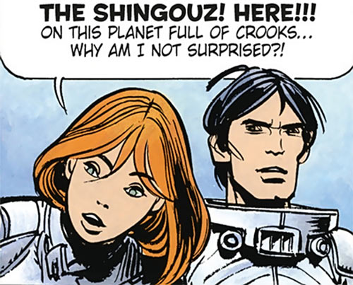 Valerian and Laureline (plot/story article) faces closeup not surprised