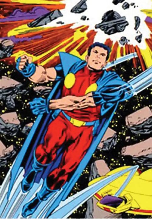 Valor (DC Comics) among asteroids