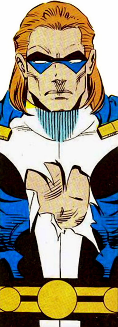 Vanguard of the Super Soldiers (Marvel Comics) with his insignia torn off