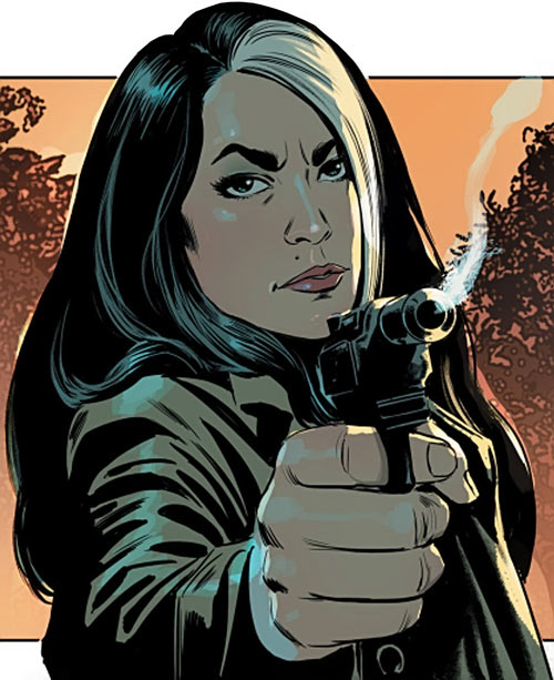 Velvet Templeton (Image Comics by Brubaker and Epting) smoking gun