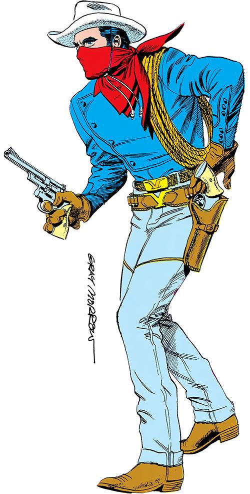 Vigilante (Greg Sanders) over a white background