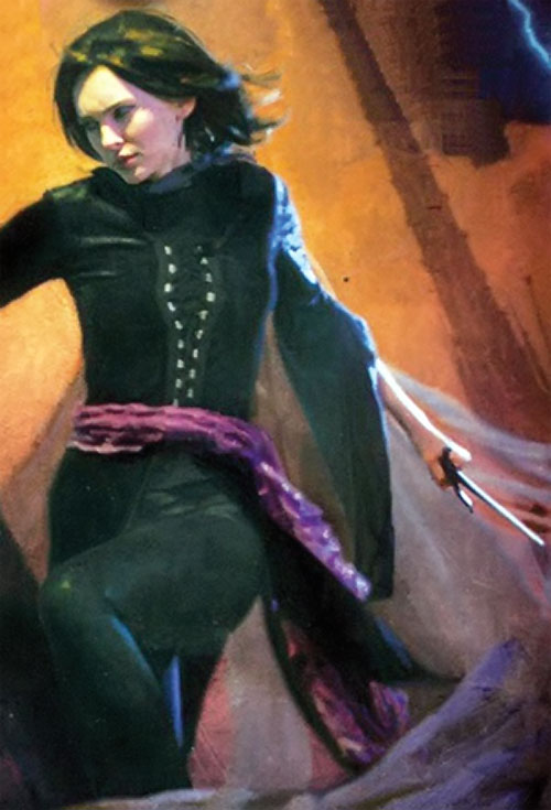 Vin (Mistborn) cover detail with sai