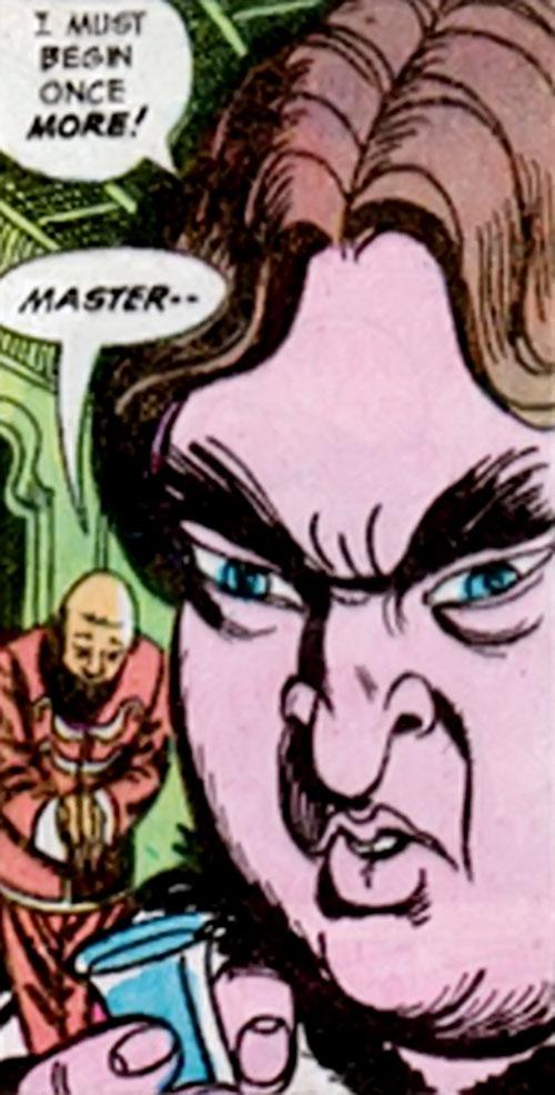 Viper of the League of Assassins (Richard Dragon enemy) (DC Comics) face closeup