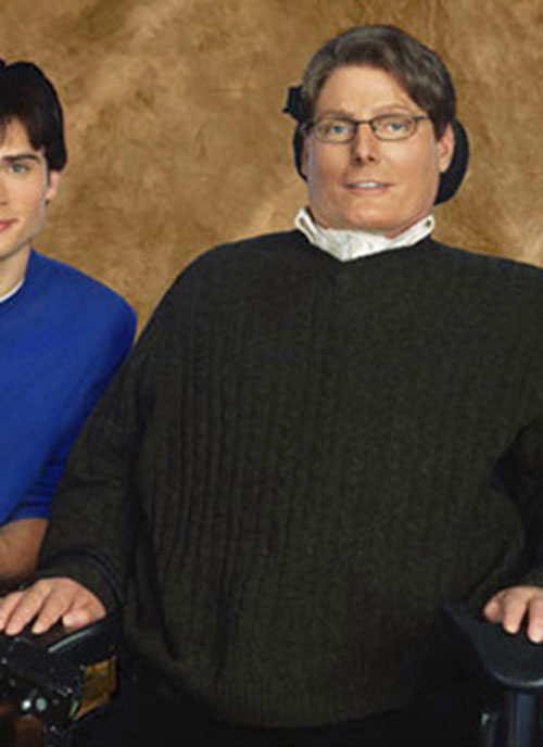 Virgil Swann (Christopher Reeves in Smallville) with Tom Welling